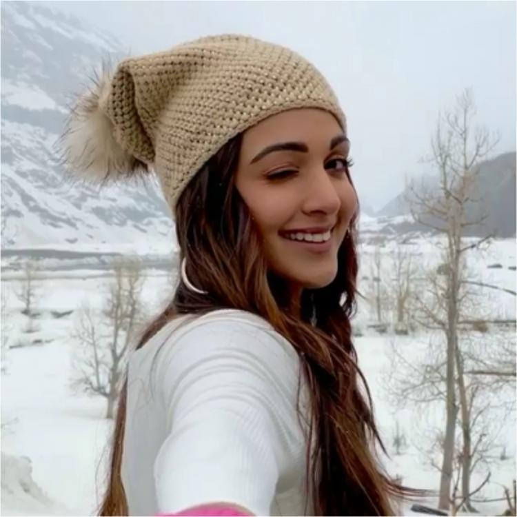 , Kiara Advani looks radiant as she winks & gives us a glimpse of her 'snow glow' from winter wonderland; WATCH,