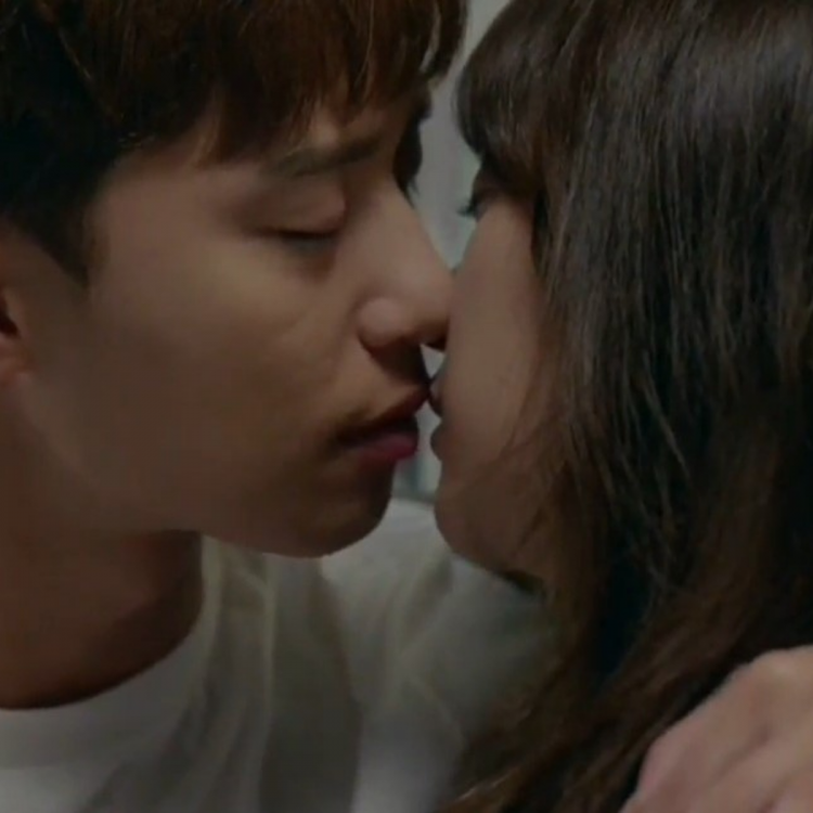 A kissing scene from Fight My Way