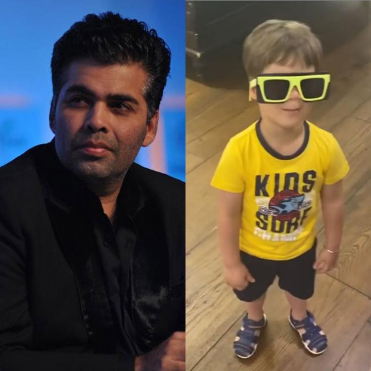 Karan Johar's kids Yash and Roohi disapprove of his fancy glasses in the cutest way possible; WATCH