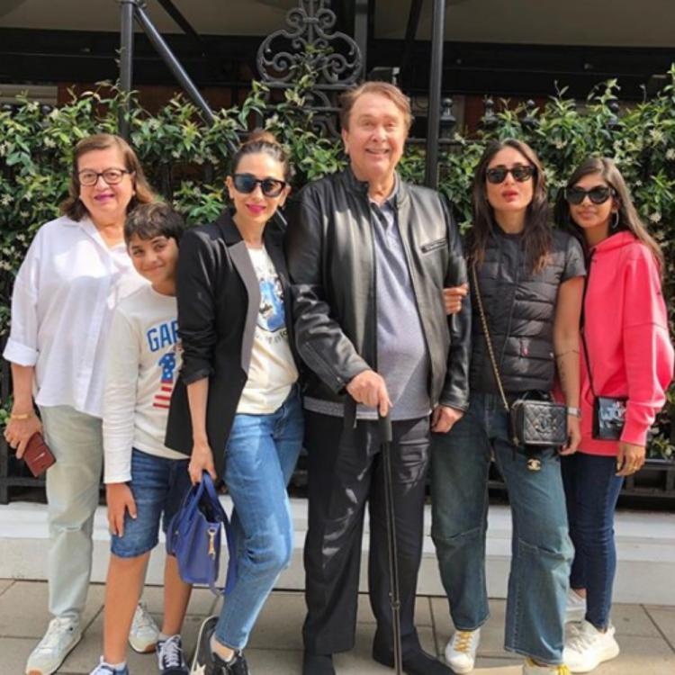 Karisma Kapoor enjoys the London sun with sister Kareena Kapoor & other members of the Kapoor family; view PIC