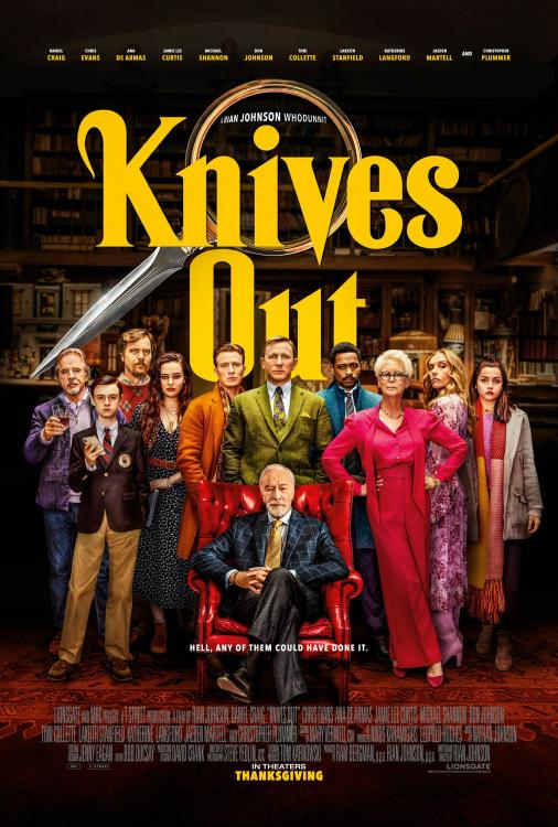 Starring Daniel Craig and Chris Evans, Knives Out released today, i.e. November 29, 2019.