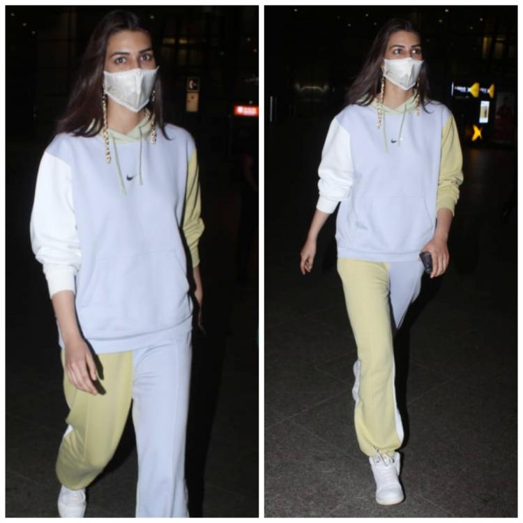 Kriti Sanon shows off her colourful tracksuit at the airport as she lands in style; Yay or Nay?