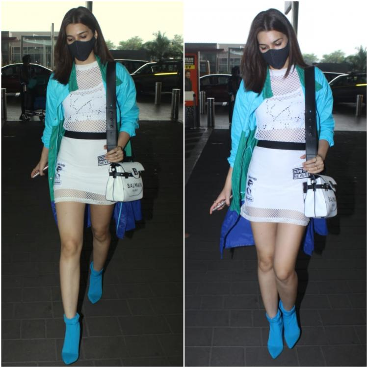 Kriti Sanon makes up for all lost airport looks as she steps out in colour blocked athleisure; Yay or Nay?