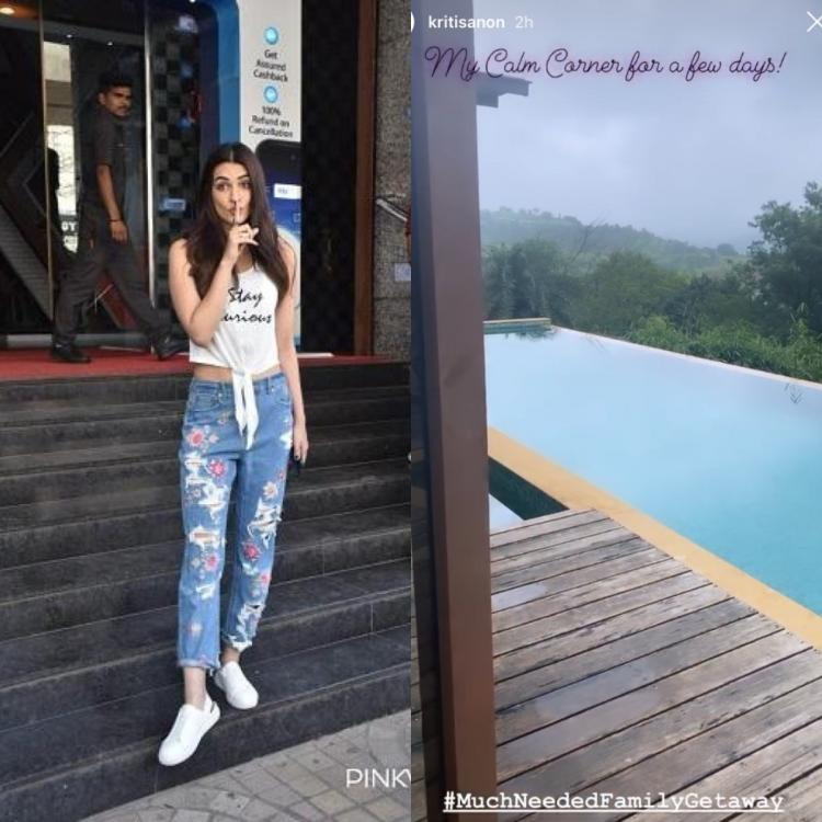 Kriti Sanon jets off for a family vacation