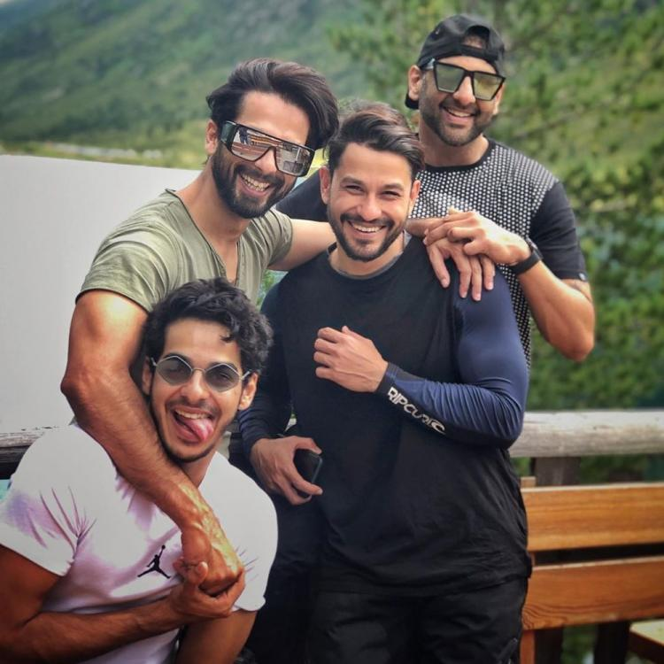 Shahid Kapoor, Ishaan Khatter & Kunal Kemmu are beaming with joy in an adorable click from their trip; See Pic