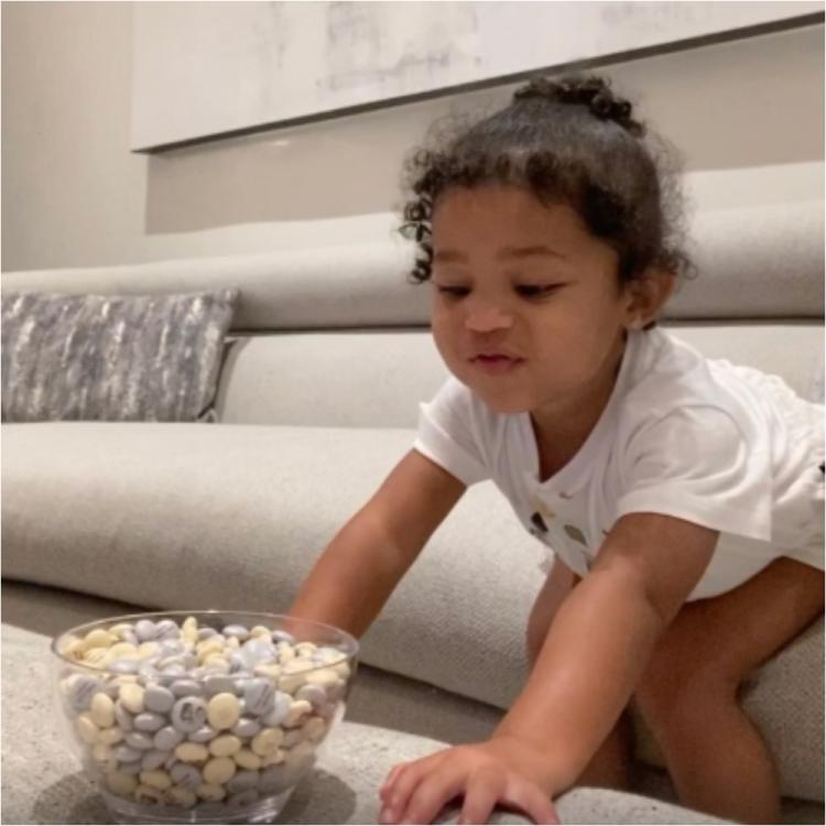 Kylie Jenner's daughter Stormi Webster chants 'Patience' as she drools over forbidden candies; Watch Video
