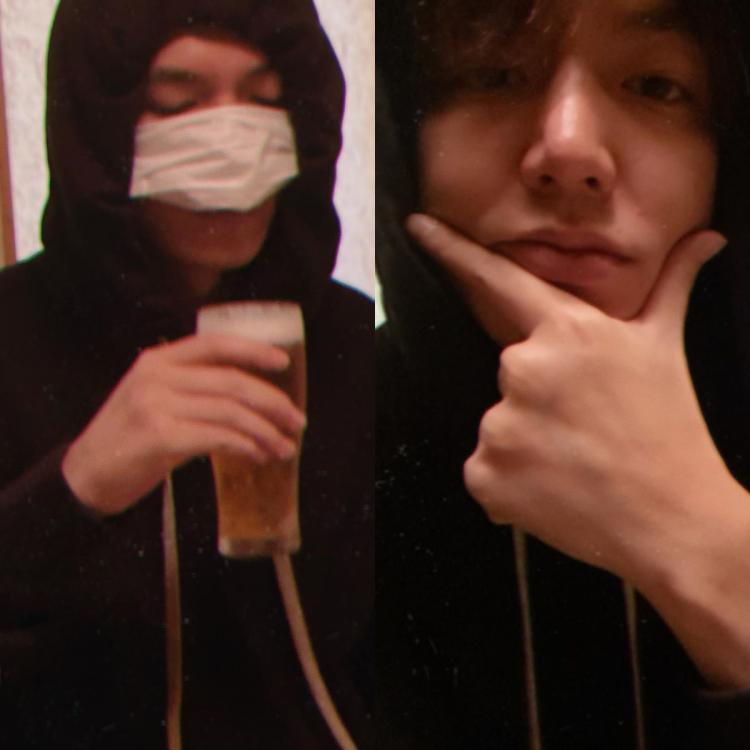 Lee Min Ho shared a bunch of photos, including the one where he enjoys a pint of beer