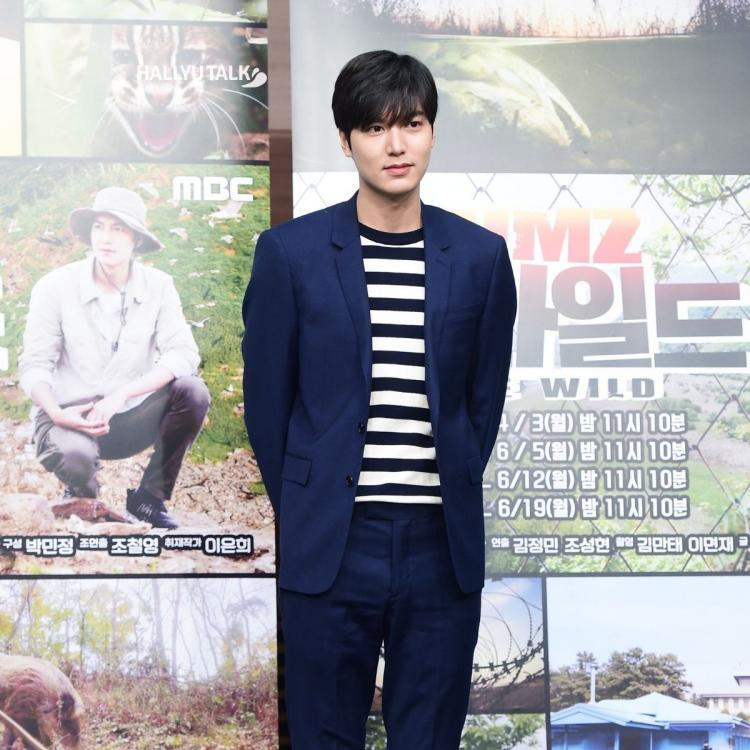 Actor Lee Min-ho is posing at the production presentation of'DMZ, The Wild