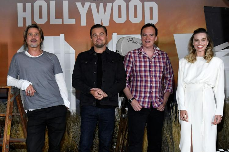Leonardo DiCaprio, Brad Pitt and Margot Robbie star together in Once Upon A Time In Hollywood.