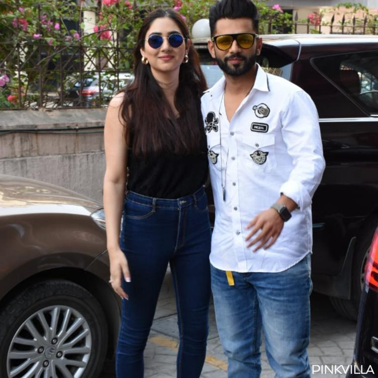 Rahul Vaidya and Disha Parmar were spotted in the city today