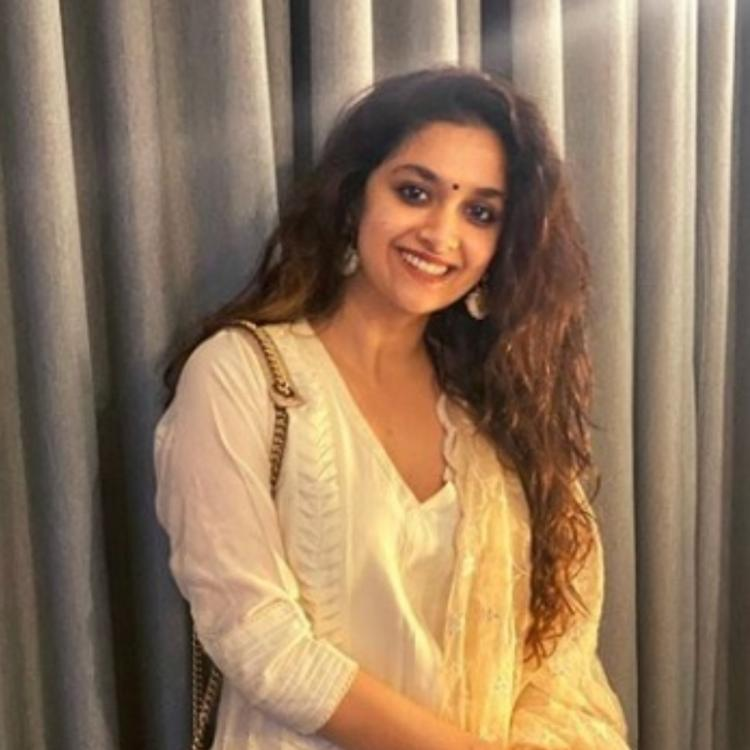 Keerthy Suresh is a sight to behold in her festive look