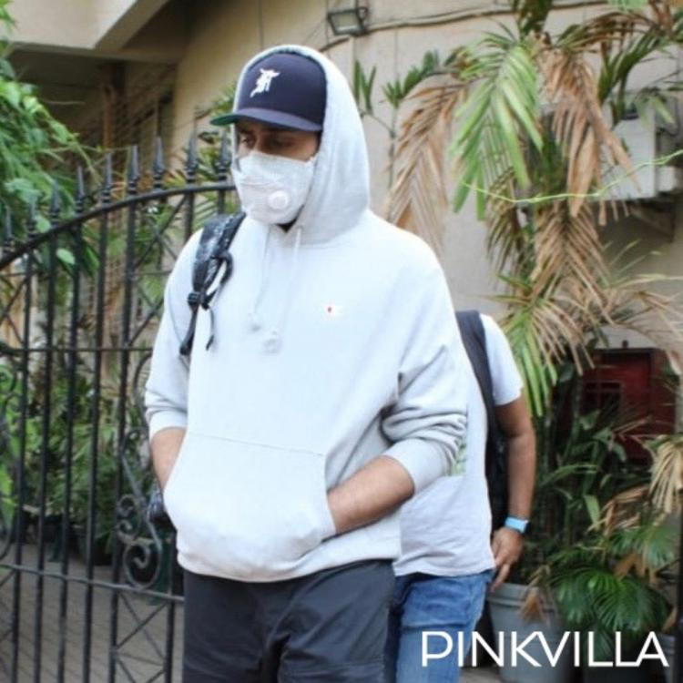 PHOTOS: Abhishek Bachchan steps out in the city for dubbing in a cool and casual avatar