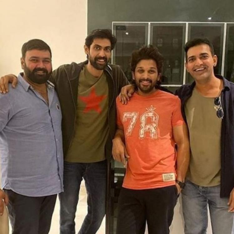 Rana Daggubati & Allu Arjun are all smiles in this throwback picture taken on new year's eve