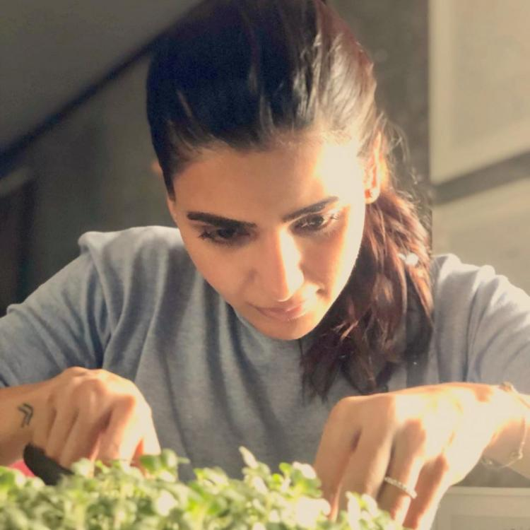 Samantha Akkineni enjoys her time while gardening; Shares a glimpse of her first harvest