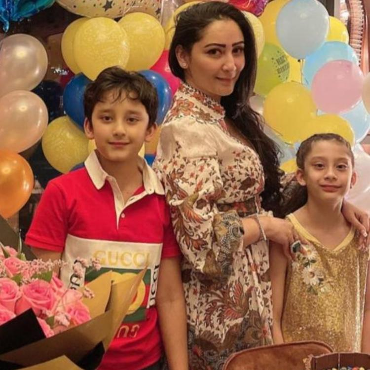 Maanayata Dutt throws another party for her twins on their 10th birthday.