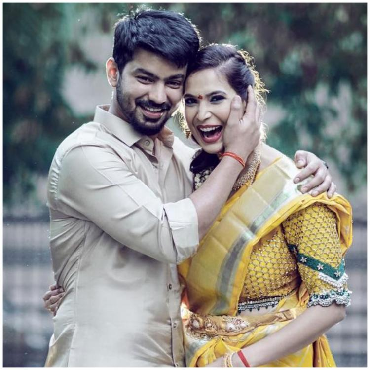 Bigg Boss fame Mahat Raghavendra shares first picture with fiance Prachi Mishra from their engagement ceremony