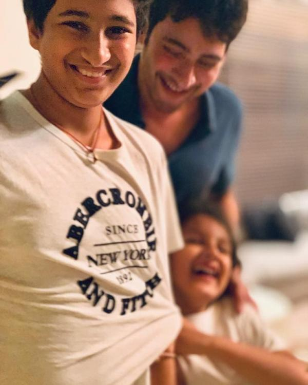 Mahesh Babu shares the best picture ever with kids Sitara and Gautam, Says 'be the light of our lives'