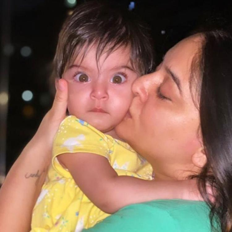 Mahhi Vij steals a kiss from her baby girl Tara and her reaction will melt your heart; See PHOTO