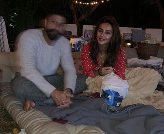 Farhan Akhtar celebrated his 45th birthday with beau Shibani Dandekar by watching a movie