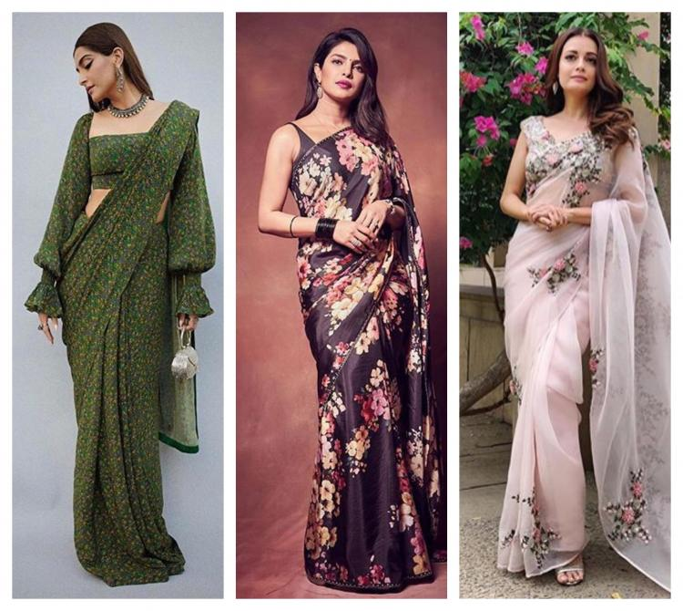 From Sonam Kapoor to Dia Mirza, check out the floral sarees that have won us over