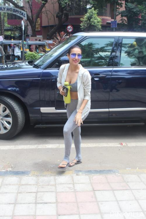 PHOTOS: Malaika Arora raises the oomph quotient as she steps out for her yoga class nailing all grey look