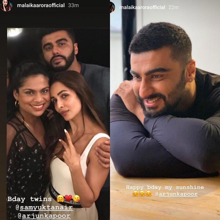 Malaika Arora shares a beautiful picture of beau Arjun Kapoor on his birthday and called him her 'sunshine'