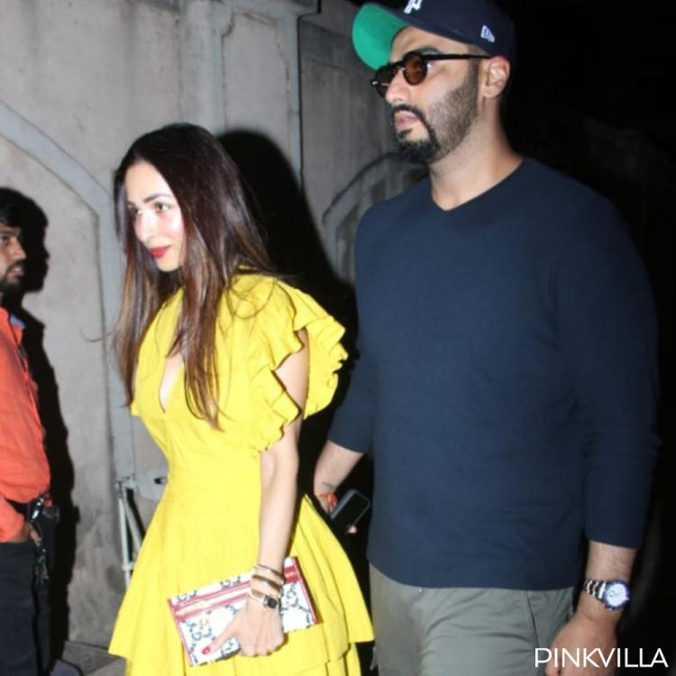 PHOTOS: Malaika Arora & Arjun Kapoor make for a lovely couple as they step out to celebrate her mom's birthday