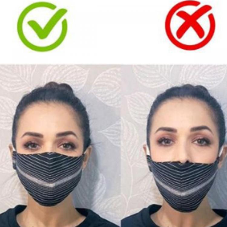 Malaika Arora urges all to 'wear a mask' and displays the right way to don it amid COVID 19 pandemic; See Pic