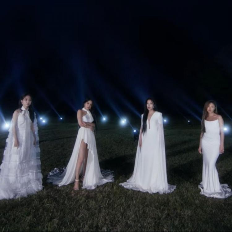 MAMAMOO members dressed in all white in their upcoming comeback album WAW's teaser trailer
