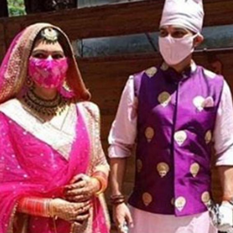 Manish Raisinghan and Sangeita Chauhaan get married in a low key ceremony; See Pic