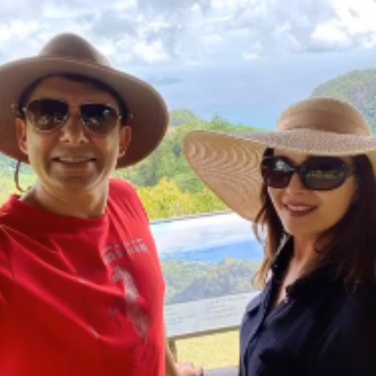 PHOTOS: Madhuri Dixit holidaying with husband and kids in Seychelles will give you major family goals
