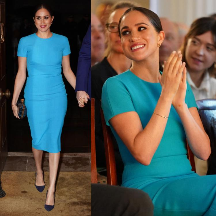 Meghan Markle drives away the blues in a Victoria Beckham bodycon dress IDEAL for your next date night