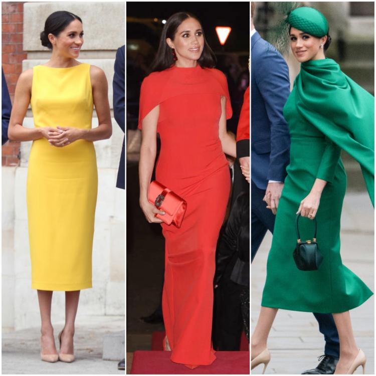 Meghan Markle's love for bright solid coloured monochromatic ensembles know NO BOUNDS