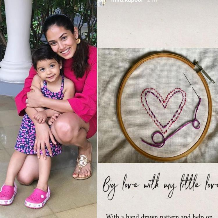 Mira Rajput and daughter Misha try hands at embroidery 'with a lot of excitement' & we are all hearts for them