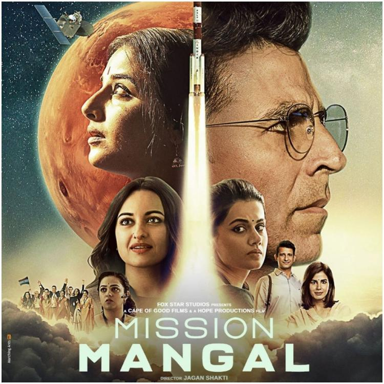 Mission Mangal New Poster: Akshay Kumar shares new poster of Vidya Balan, Taapsee Pannu & others & trailer release date