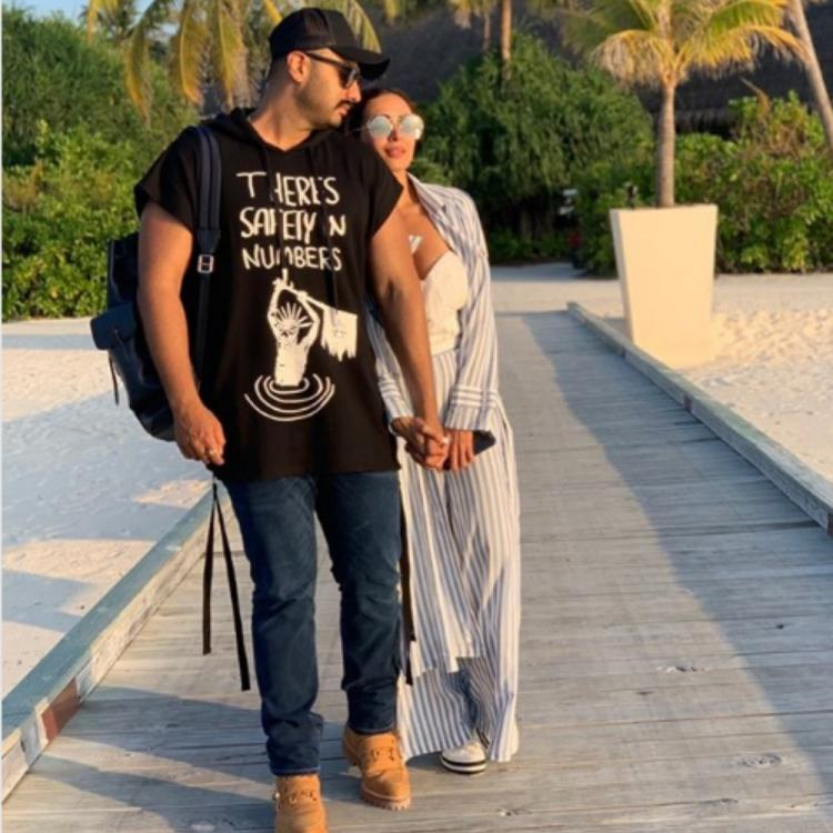 Malaika Arora shares a romantic pic with Arjun Kapoor from their Maldives vacation on his birthday