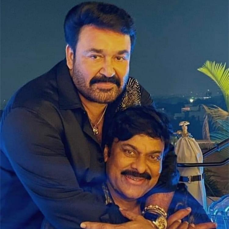 Mohanlal hugging Chiranjeevi in this throwback PHOTO is a visual treat for the fans of Lalettan
