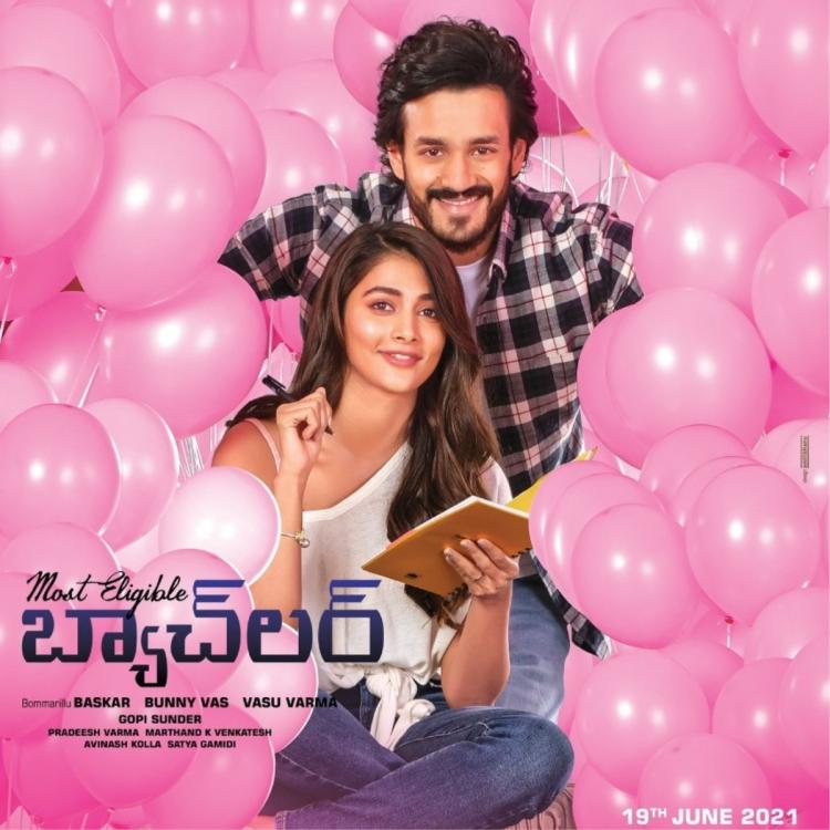 Guche Gulabi from Akhil Akkineni's Most Eligible Bachelor released; Pooja Hegde calls it a mesmerising melody