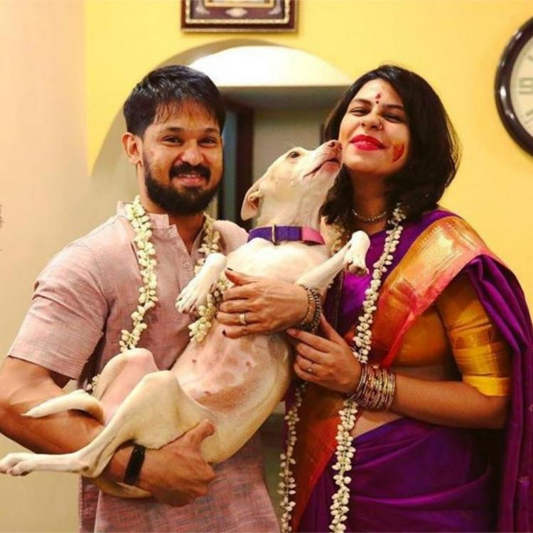 Nakkhul Jaidev's wife Sruti has a low key baby shower with kin amid lockdown for COVID 19