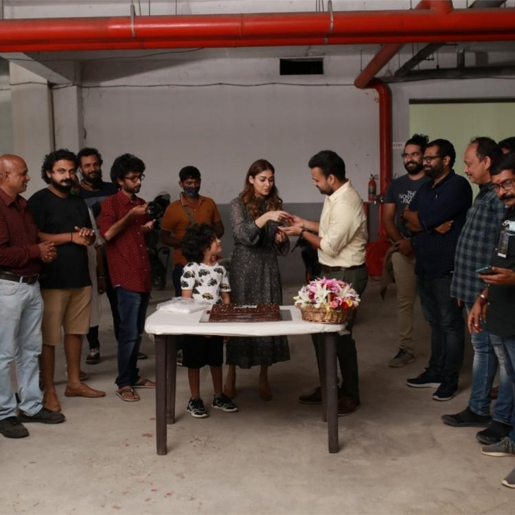 Nayanthara rings in her birthday on Nizhal sets; See PICS of the Lady Superstar cutting cake with cast & crew