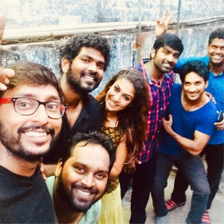 Nayanthara & Vignesh Shivan are all smiles as they pose with Naanum Rowdy Dhaan crew in this THROWBACK photo