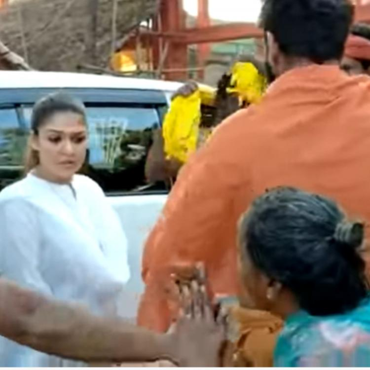 Nayanthara's humble gesture with Vignesh for an old lady proves why she is the Lady Superstar; Throwback Video