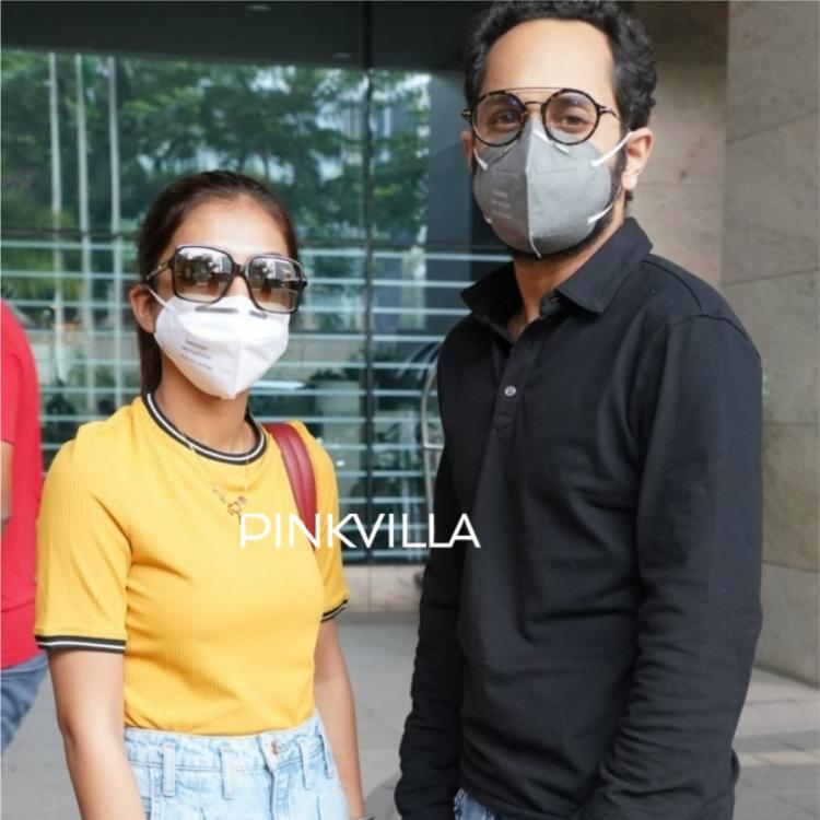 Fahadh Faasil and Nazriya Nazim ace casual outfits as they get papped at the airport; See PHOTOS