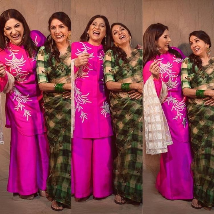 Neena Gupta & Archana Puran Singh celebrate happy coincidence of donning Masaba's outfits for TKSS; See Pic