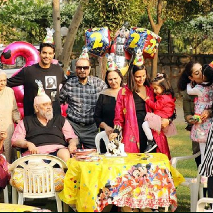 Neha Dhupia posts PHOTOS of her and Angad Bedi's daughter Mehr's Mickey Mouse themed 2nd birthday party