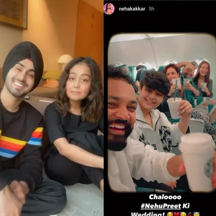Bride to be Neha Kakkar jets off to her wedding destination; Rohanpreet can't keep calm as celebration begins