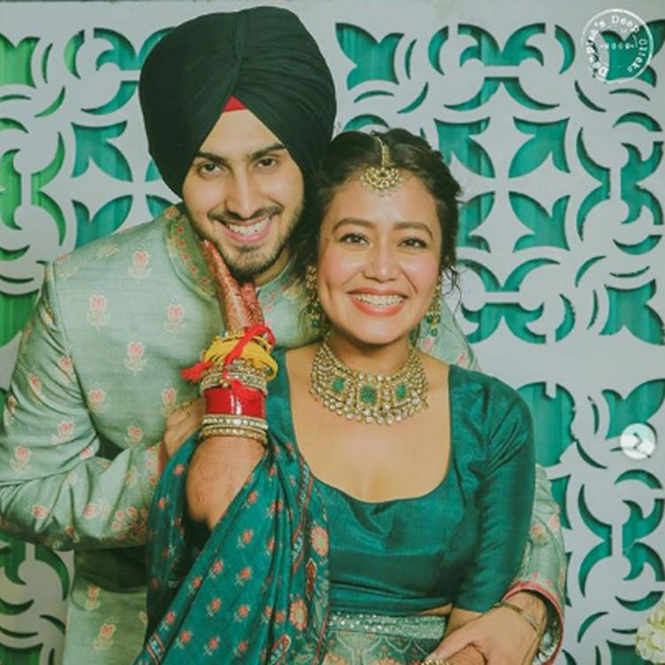 Neha Kakkar is all smiles as she twins with her beau Rohanpreet in green ahead of their wedding; See Photos