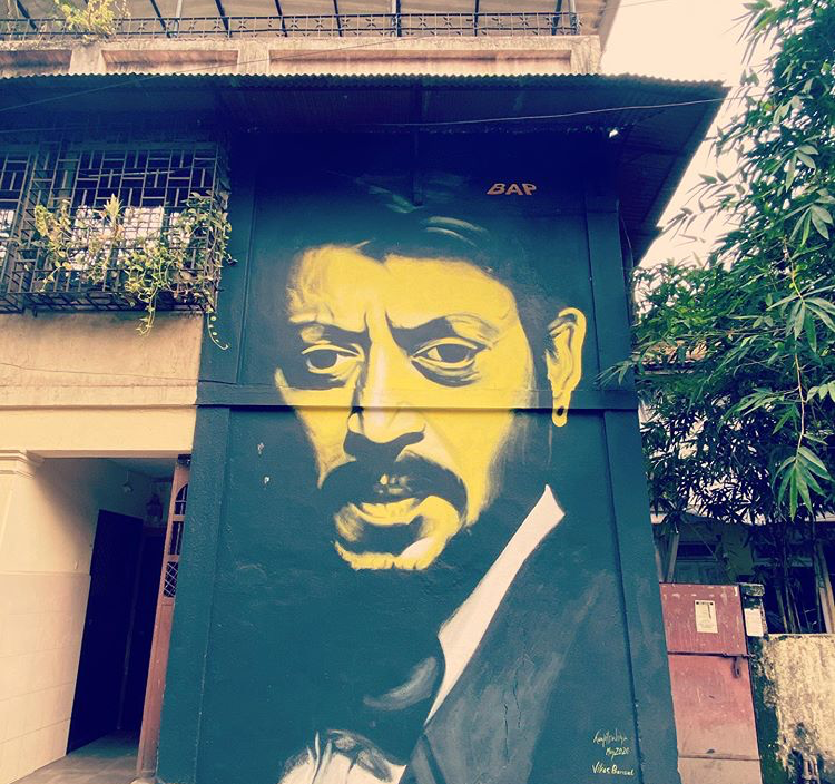 Neha Dhupia shares graffiti artwork of late actor Irrfan Khan & Sridevi painted within 2 Kms of her home; PIC