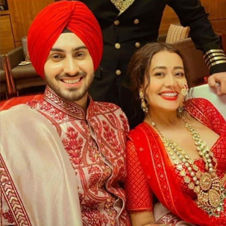 Neha Kakkar and Rohanpreet Singh are all smiles as they tie the knot