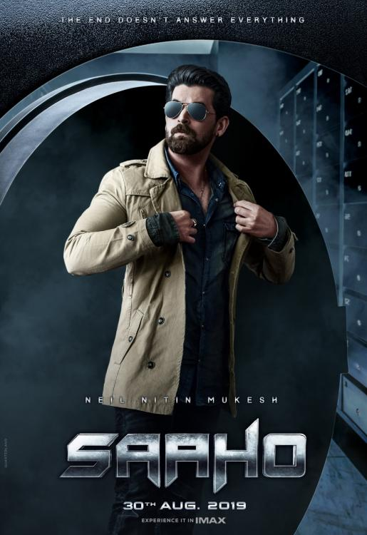 Image result for Neil Nitin Mukesh first but mysterious poster release from the movie Saaho